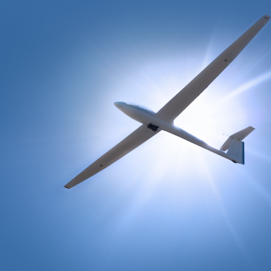 Glider against the sun